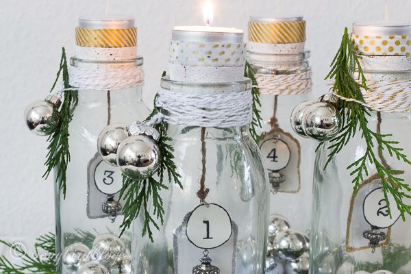 17 best images about bottles on pinterest jars bottle for Advent decoration ideas