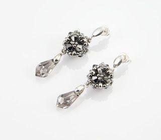 Nitecznik earrings crystal swarovski strass beading bicone nitecznik.blogspot.com