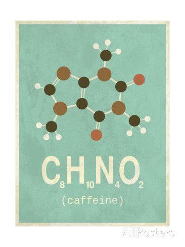Molecule Caffeine ジクレープリント