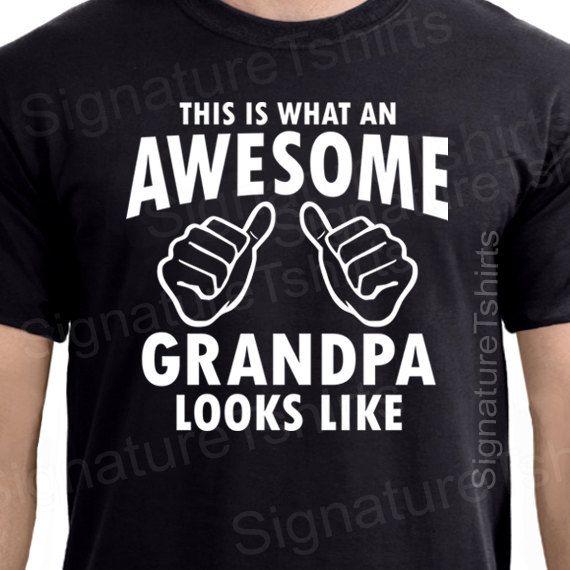 Grandpa Shirt AWESOME GRANDPA tshirt t shirt New Grandparent Granddad Grandfather TShirts Fathers Day Gifts for papa on Etsy, $13.95