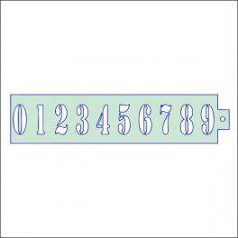 Categoría: Stencils Para Guarda Lateral - Producto: Stencil Guarda Lateral 27X6.5Cm-Numeros - Envase: Unidad - Presentación: X Unid.