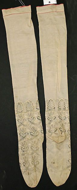 Silk Stockings, 1846, French, MET Museum Accession # C.I.45.113.3a, b