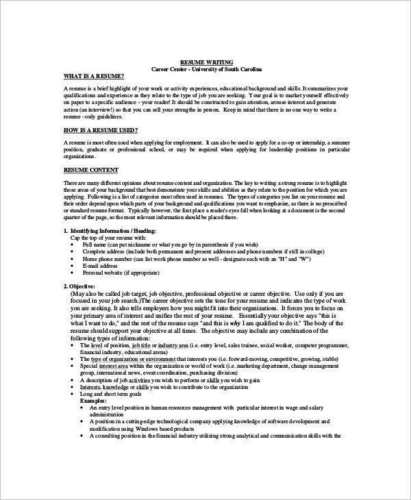 Personal Banker Job Description For Resume The Best Sample Job Objective 6 Documents In Pdf O Career Objectives For Resume Career Objective Examples Resume