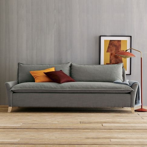 I really want this sofa. Fierce. I'm wondering if I can get Cory on board with the lagoon velvet. :)