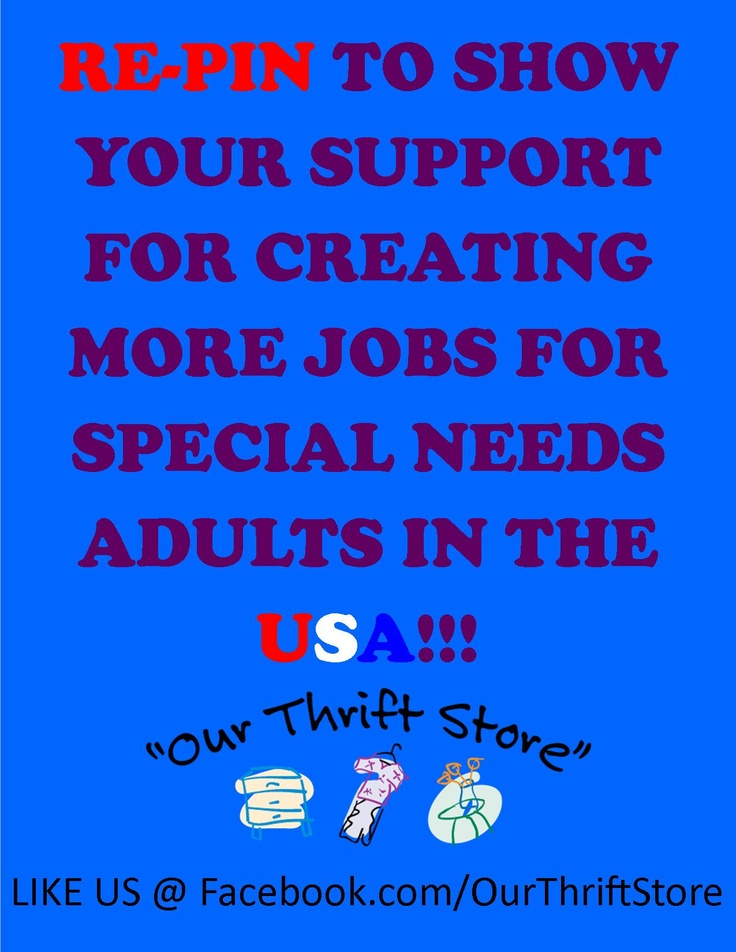 Opinion obvious. Employment opportunities for special needs adults