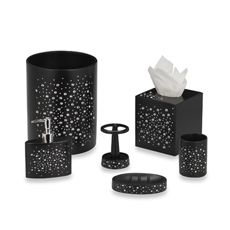 black glitter bathroom accessories. Soap dish will add some sparkle to your decor especially when combined with  the other Diamond Black bath 14 best MY HOME Bath Accessories images on Mosaic Bathroom
