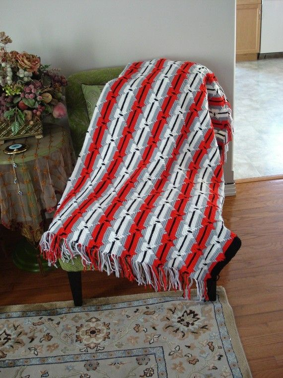 Ready to ship/Throw Over AfghanBlanket/ Handmade Crochet by ufer, $200.00
