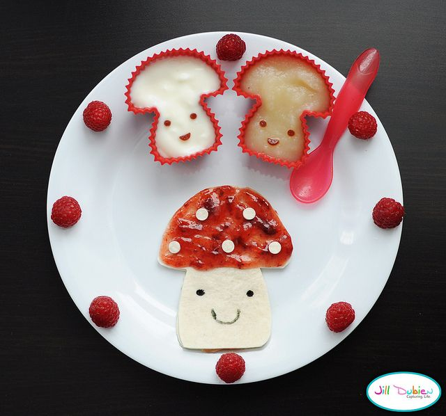how cute ! mushroom kiddo food.   MEET THE DUBIENS BLOG