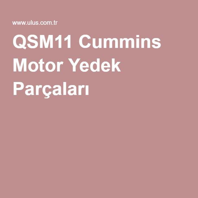 QSM11 Cummins Motor Yedek Parçaları