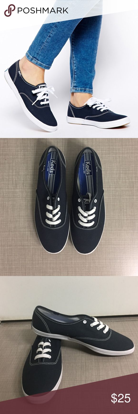 NEW Keds Champion Oxford Sneaker -- Navy NEW, never worn. A sporty classic that will never go out of style. Navy with white accents. Box not included. (Laces are tucked inside of shoes for photographic purposes.) Keds Shoes Sneakers