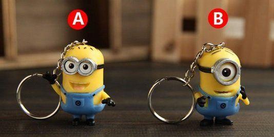 Roliga Minion nyckelringar. Despicable me