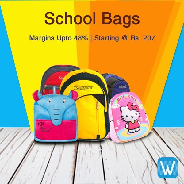 Retailers, stock up on school bags for the coming session. Source only on Wydr Wholesale E-Commerce. Assured Quality, Easy Return. Buy in bulk.