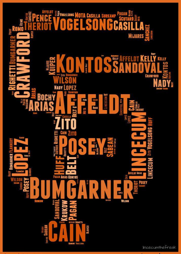"lincecumthefreak: "" 25 Guys. 1 Common Goal. Win Today. #OrangeOctober """