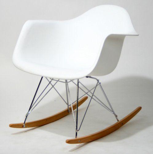 mod white cradle rocking chair moderne schaukelsthleeames schaukelstuhlchilds - Charles Eames Schaukelstuhl