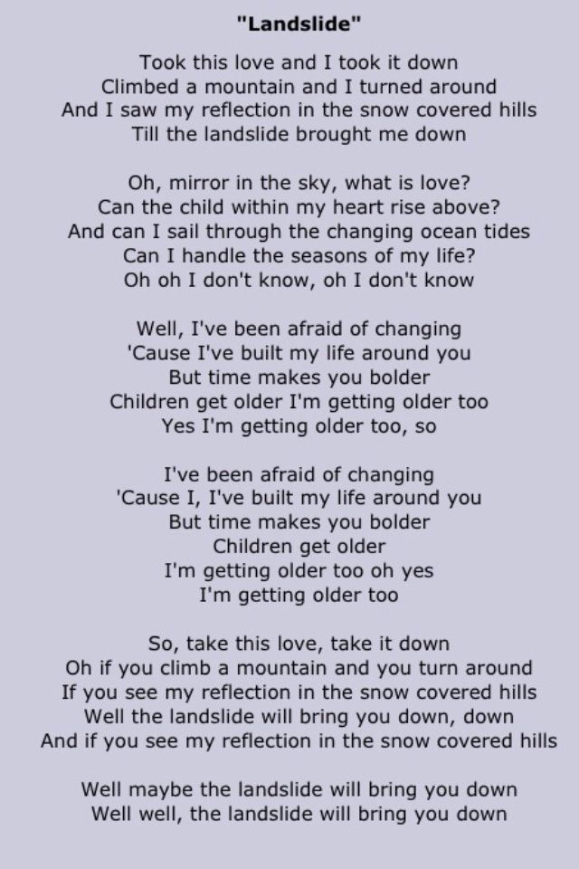 Landslide -Fleetwood Mac