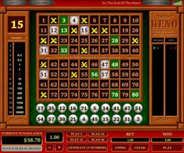 Playing Online Casino Keno for Real Money