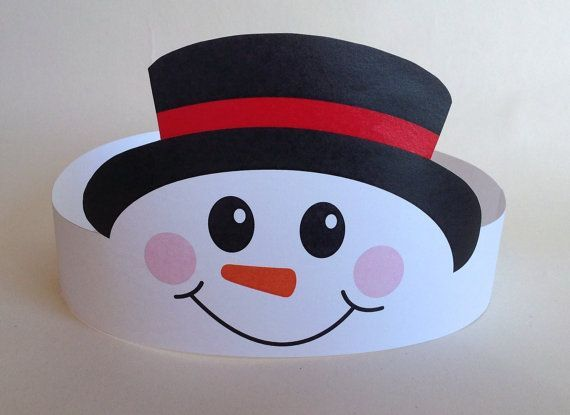Create your own Snowman Crown! Print, cut & glue your crown together & adjust to fit anyones head!    • A .pdf file available for instant download