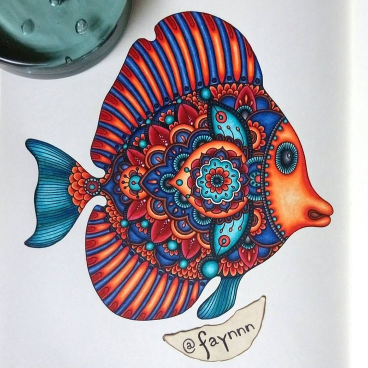 I Would Like To Thank Specially Aline Hallais Coloring Secrets Which Fish TattoosFish ArtColoring BooksAdult