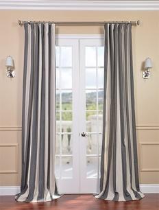 Veranda Charcoal Stripe Linen Blend Curtains: Dining Rooms, Verandas Charcoal, Linens Blend, Charcoal Stripes, Curtain Panels, Curtains Panels, Blend Curtains, Overstock Com Shops, Stripes Linens
