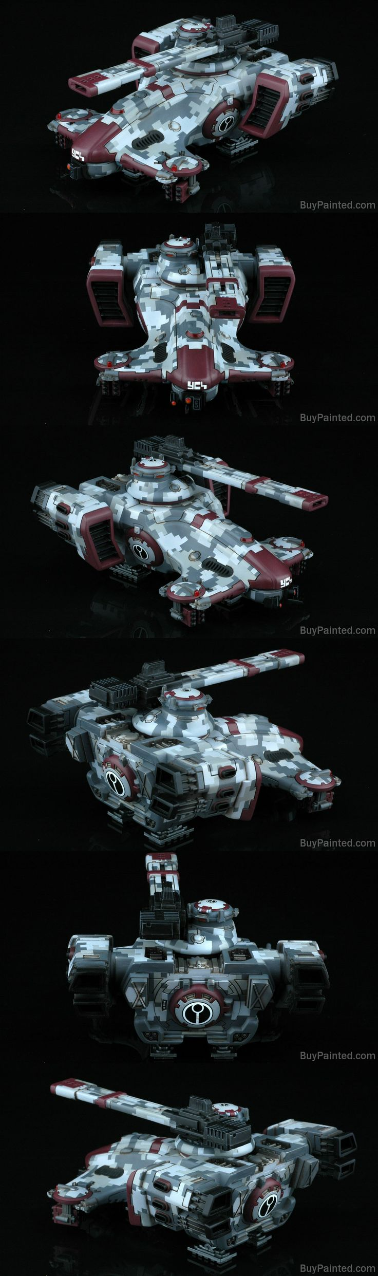 Warhmmer 40k Tau Hammerhead painted in digital camo by the guys at buypainted.com
