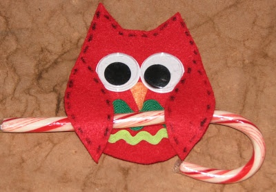 Owl Candy Cane Holder & Template