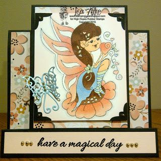 """High Hopes Stamps: Magical Day by Lisa using New Release """"Julie's Dream"""" (U502), along with the sentiment from """"Sentiment Set #2"""" (U501)"""