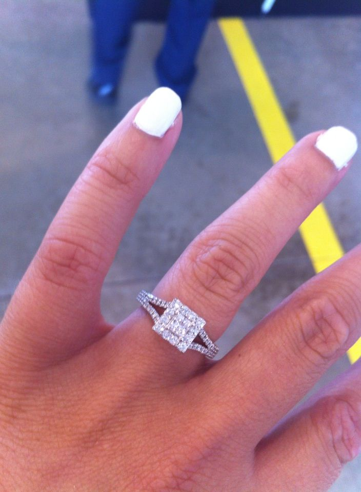 future wedding ring? I would like it more if the middle were all one simple stone... And the band were wider