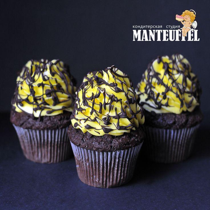 Шоколадные капкейки с банановой начинкой. - Babyblog.ru