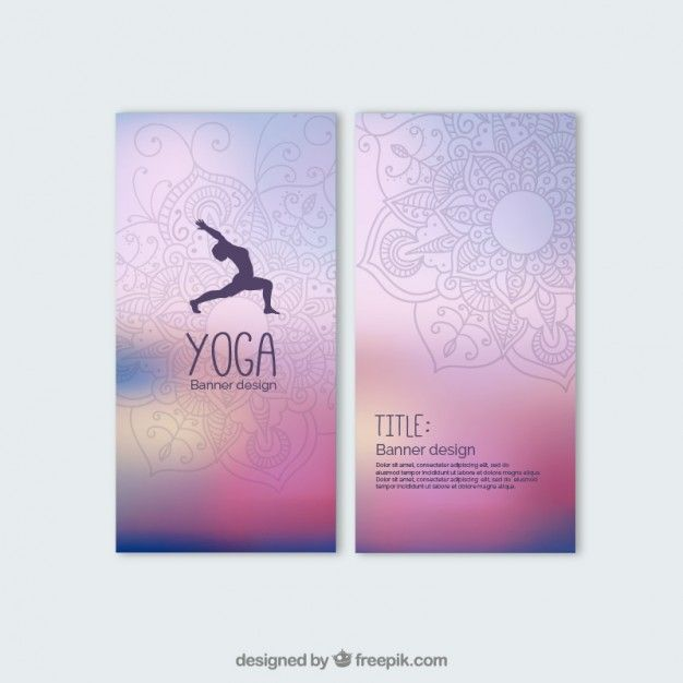 Colorful yoga banners