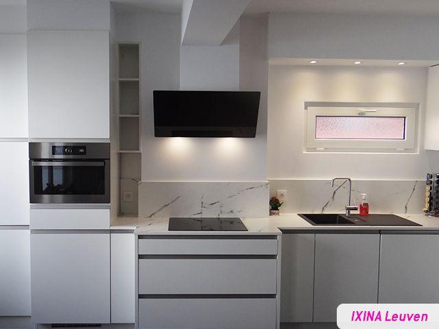 Greeploze Keuken Ixina : Keukenrealisatie IXINA Leuven greeploze keuken met