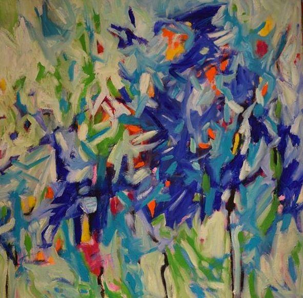 Untitled Geraldine Gillingham Oil On Canvas 24x24