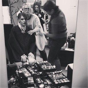 Beauty team werk with @mandy_macfadden + @sher_beauty with @Jessaca Austin being paparazzi