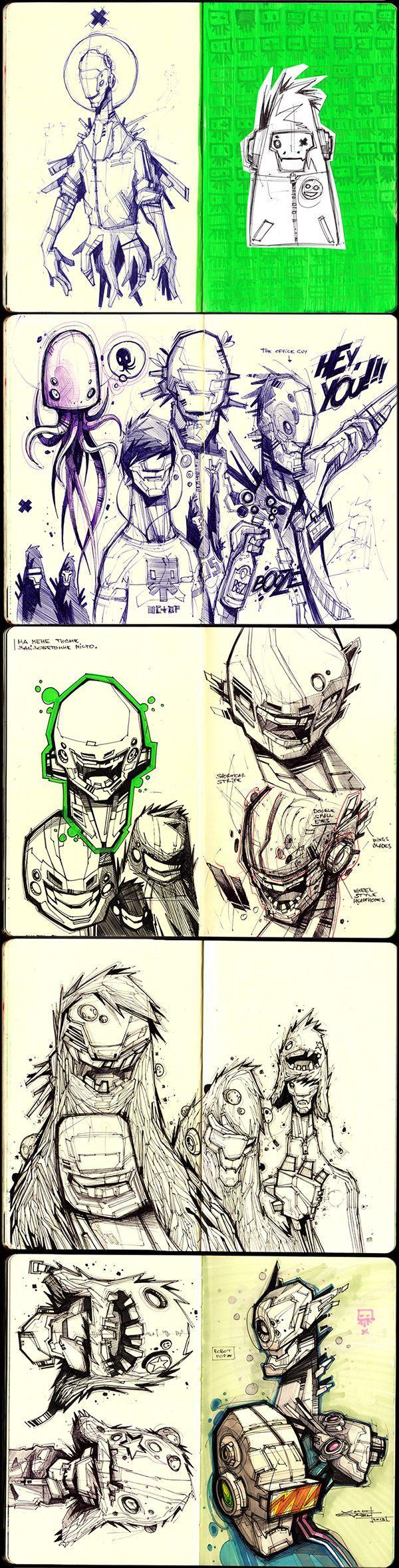 Sketches 2011-2013 by Artem Solop Kiev, Ukraine on Behance   Character Design   Drawing   Illustration   Drawing   Draw   Sketch   Doodle   Ilustração  