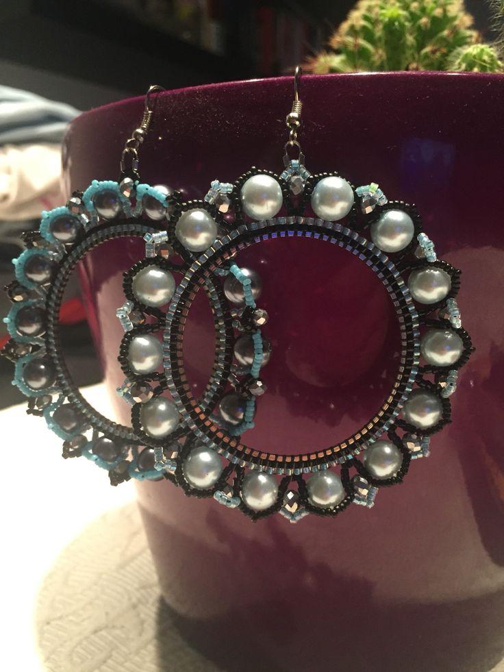 Homemade beaded earrings