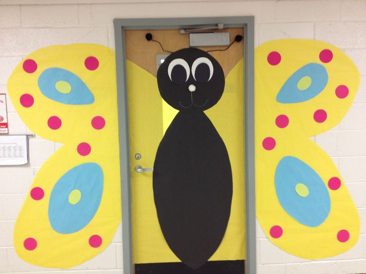 Butterfly classroom door