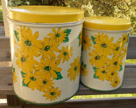 yellow canister sets kitchen 628 best vintage kitchen canister sets images on 22788