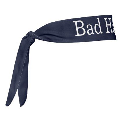Funny Bad Hair Day Ribbon for Girls Tie Headband - funny quote quotes memes lol customize cyo
