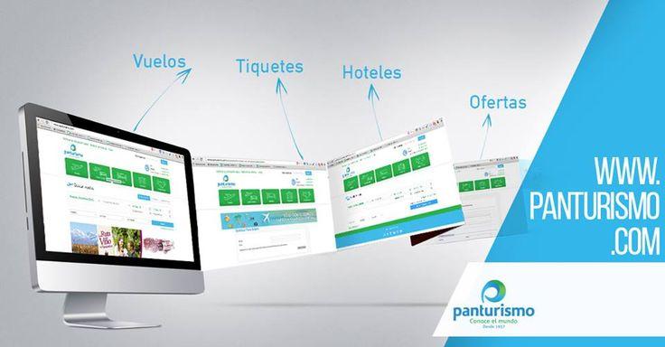 Ingresa a nuestra página web y encuentra todo lo que necesitas para tus próximas vacaciones http://www.panturismo.com