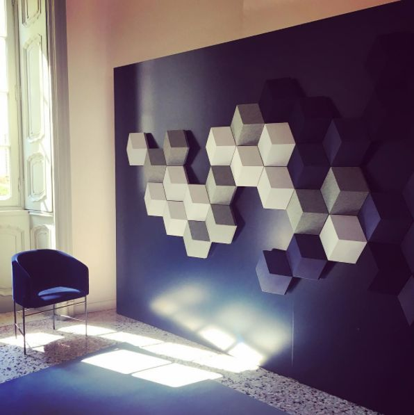 Sierra Holland sharing a great shot of the newly launched BeoSound Shape directly from Milan!