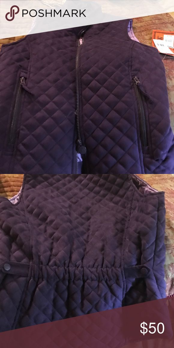 Beautiful purple vest PRICE DROP Super soft suede like material, great detail in the back. The color is gorgeous! She'll be a star this fall rocking this awesome vest! outback trading company Jackets & Coats Vests