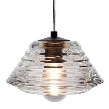 crystal pendant, 1 light, modern bowl glass electroplating – USD $ 52.99