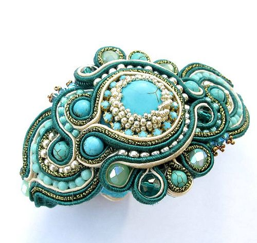 Soutache bracelet in Turquoise   Flickr - Photo Sharing!
