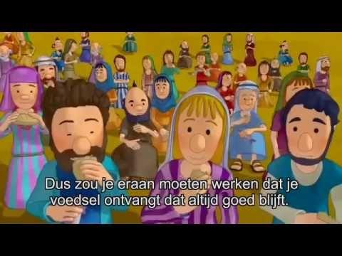 5 broden en 2 vissen tekenfilm Johannes 6 (met ondertiteling)