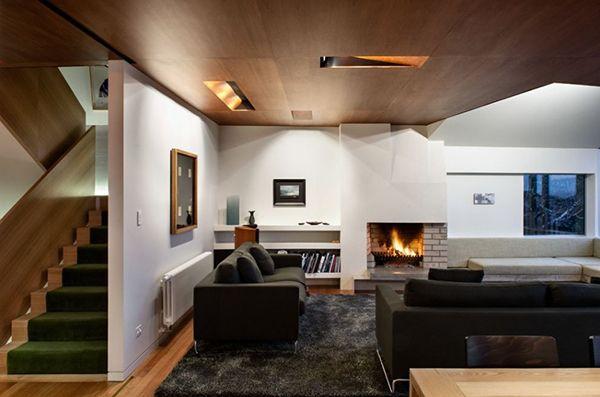 de Salas en Pinterest  Áticos, Apartamentos modernos y Interiores