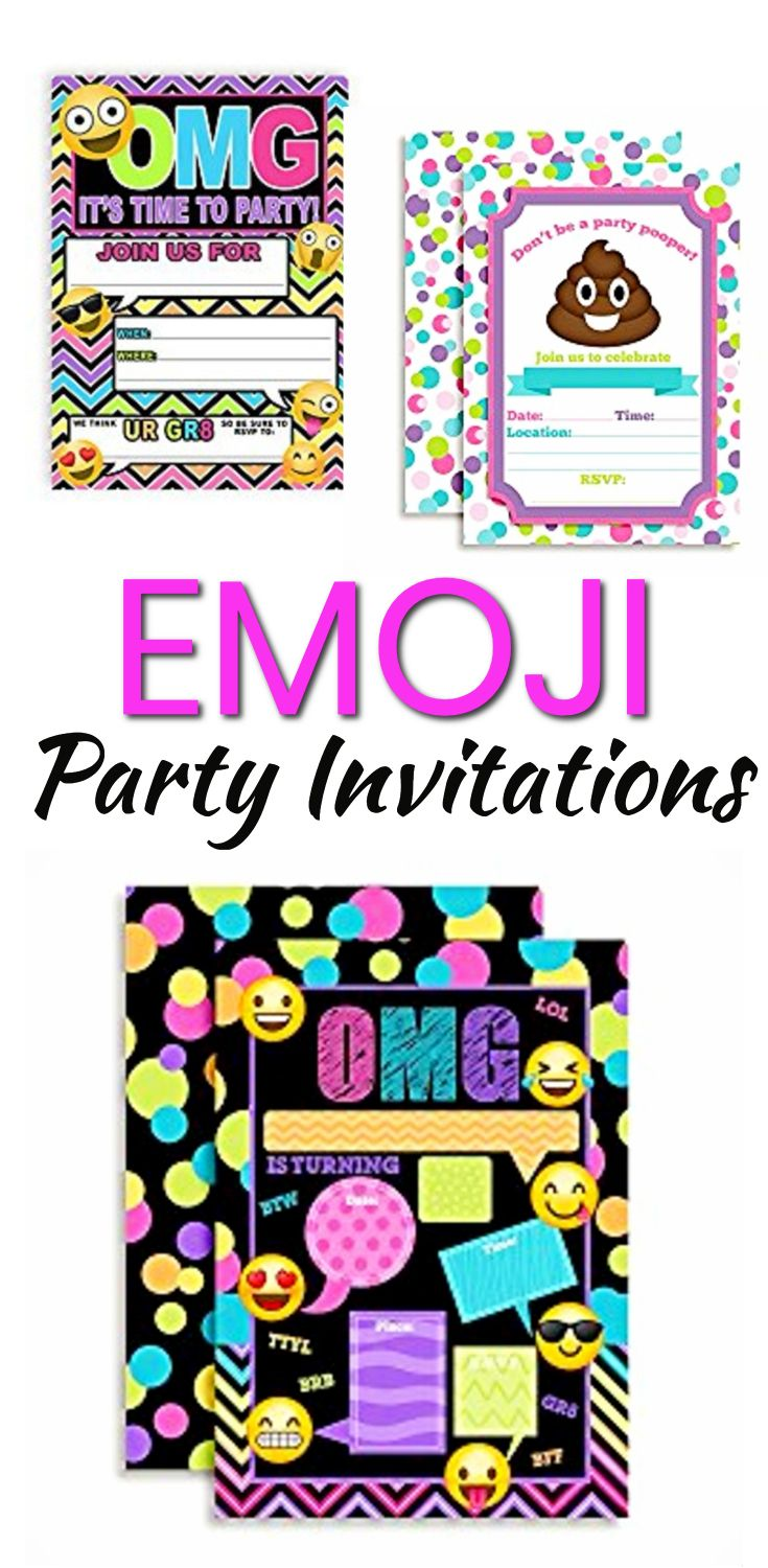 Emoji Party Invitation Ideas