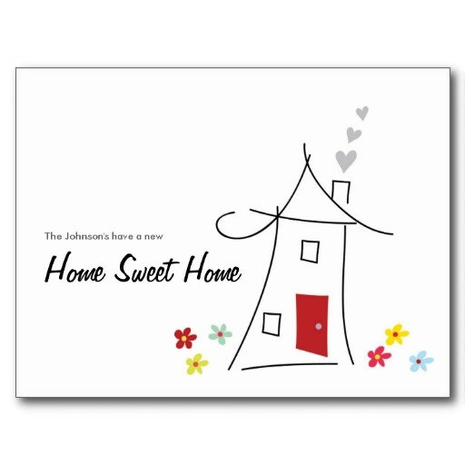 53 best exceptional housewarming we moved cards images for Moving home cards template