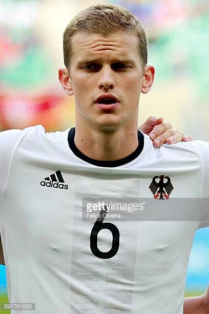 Bender Sven of Germany looks on during the Men's Group C second round match between Germany and Korea Republic of the Rio 2016 Olympic Games at Arena...