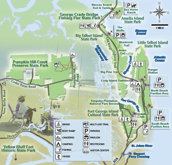 Florida State Parks Camping Map.Map Of Little Talbot Island State Park Great Place To Find Sea