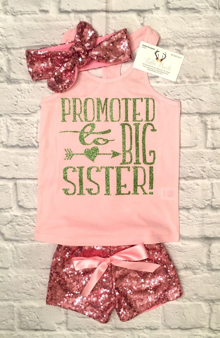 Girls Clothing, Promoted To Big Sister Shirt, Big Sister Shirts, Big Sister, PromotedTo Big Sister, Baby Shower Gifts - BellaPiccoli