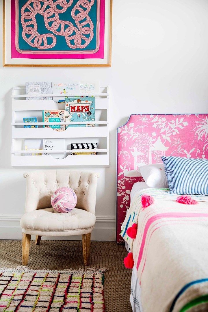 Kid's bedroom with bright colour pops | Home Beautiful Magazine Australia